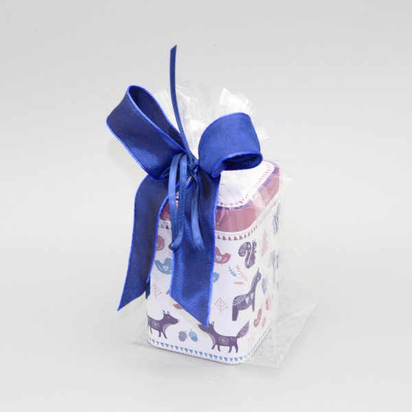 """Dose """"Verspielt Weihnachtlich Violett"""" mit Tee"""