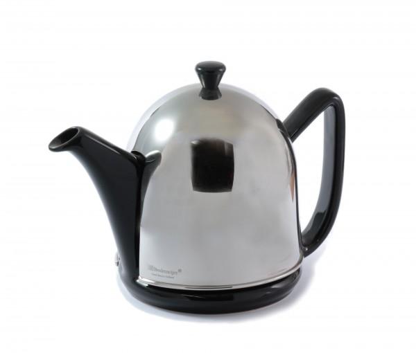 """Teekanne """"Manto"""" silber / schwarz 1 Liter"""