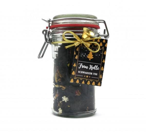 """Geschenkglas """"Frau Holle"""", Schwarzer Tee"""