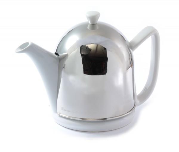 """Teekanne """"Manto"""" silber / weiß 1,0 Liter"""