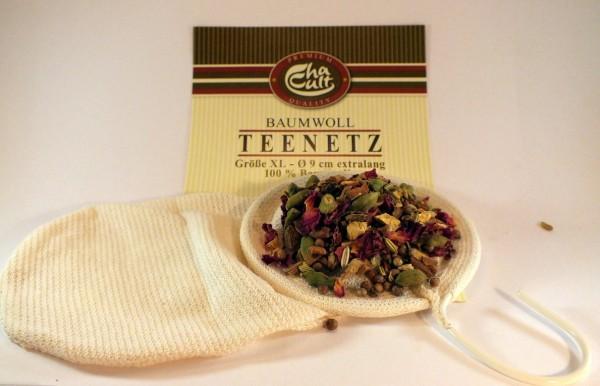 Netz Baumwollfilter Teefilter extra lang für Kannen